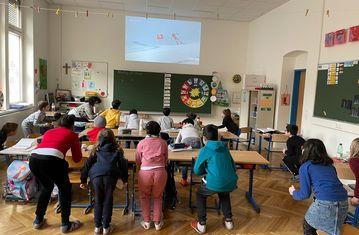 Super G- Kitzbühl- Schüler fahren mit den Österreichern mit!