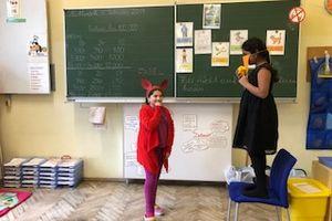 Theater spielen-Der Fuchs und der Rabe
