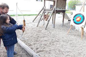 Ritterfest und Bogen schießen